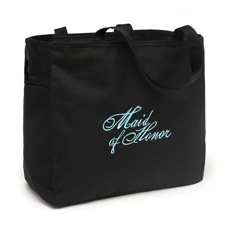 Embroidered Maid of Honor Tote Bag