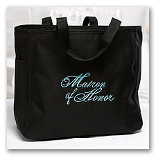 Embroidered Matron of Honor Tote Bag