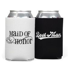Maid of Honor and Best Man Can Coolers