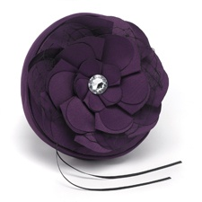 Floral Glam Ring Pillow - Eggplant