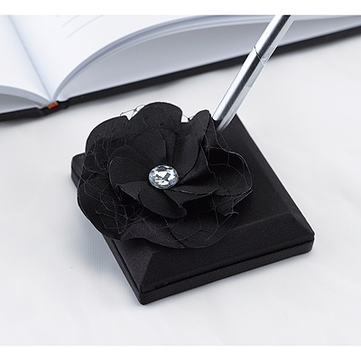 Floral Glam Pen Set - Black