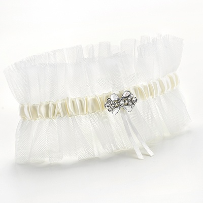 Tulle Ruffle Wedding Garter