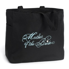 Embroidered Mother of the Bride Tote Bag