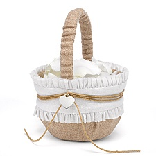 Burlap Beauty Flower Basket