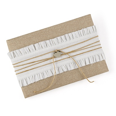 Burlap Beauty Guest Book