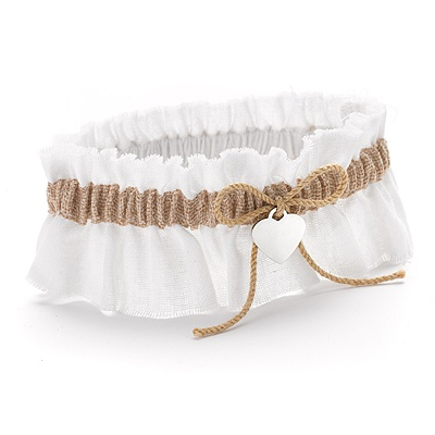 Burlap Beauty Wedding Garter