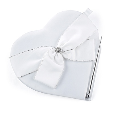 Sparkling Heart - Guest Book and Pen