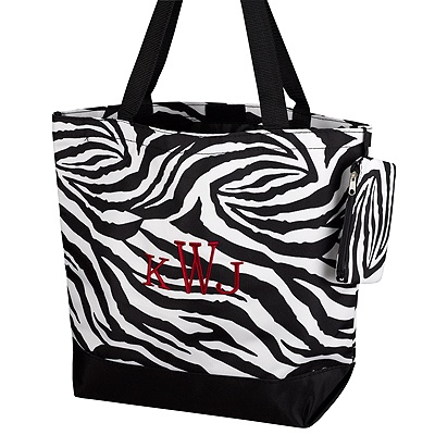 Black Zebra Tote Bag
