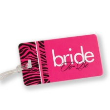 Zebra Print Bride to-Be Luggage Tag