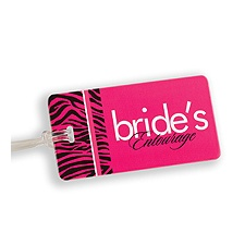 Zebra Print Bride's Entourage Luggage Tag