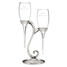 Stemless Flutes and Swirl Stand
