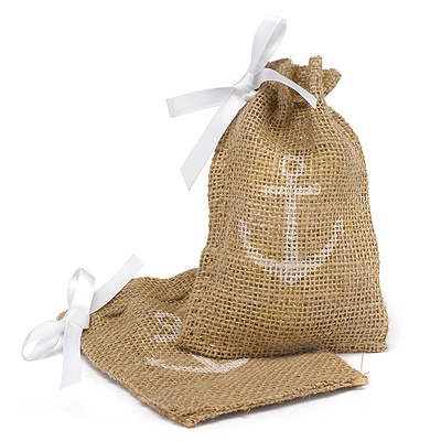 Anchor Burlap Favor Bags