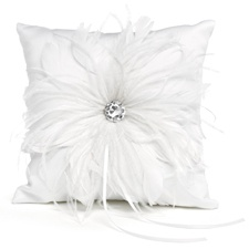 Feathered Fantasy Ring Pillow