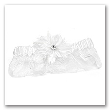 Feathered Fantasy Wedding Garter