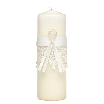 Sentimental Lace Unity Candle