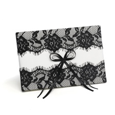 Vintage Black Lace Guest Book