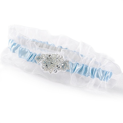 Shimmering Beads Wedding Garter