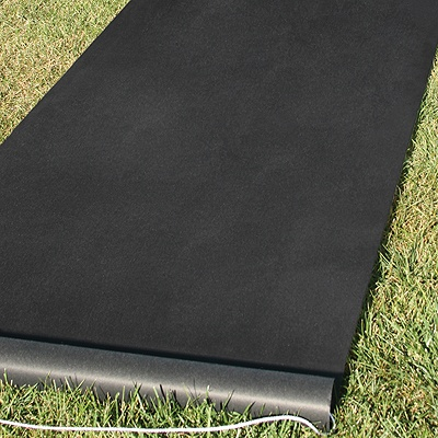 Dramatic Black Aisle Runner