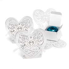 Lacy Heart-Shaped Favor Boxes