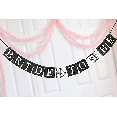 Black Bride To Be Banner