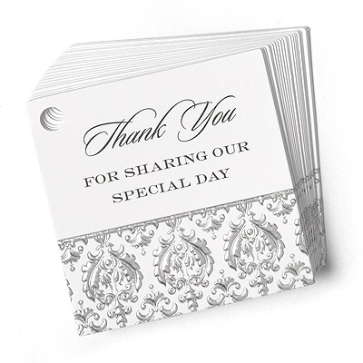 Elegant Damask Favor Cards