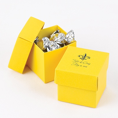 Yellow Two-Piece Favor Box