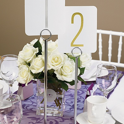 Chrome Table Number Stand