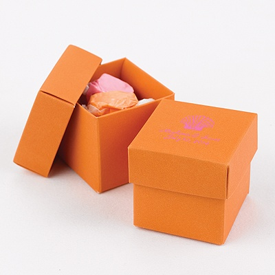 Orange Two-Piece Favor Boxes