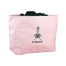 Pink Bridesmaid's Tote Bag