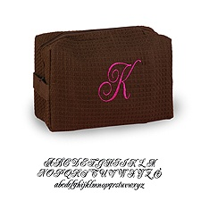 Personalized Cosmetic Bag - Brown