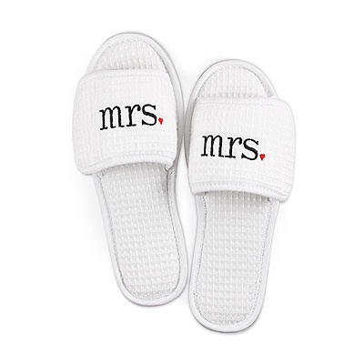 Embroidered Mrs. Slippers