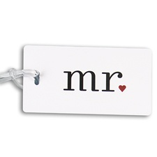 Romantic Mr. Luggage Tag