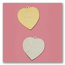 Personalized Gold or Silver Heart Charm