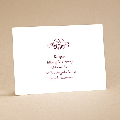 It's Up To You - Reception Card
