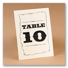 Wanted! Style Table Number Cards
