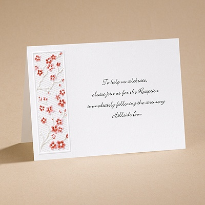 Love's Blossom - Reception Card