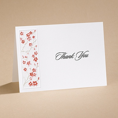 Love's Blossom - Thank You Card and Envelope
