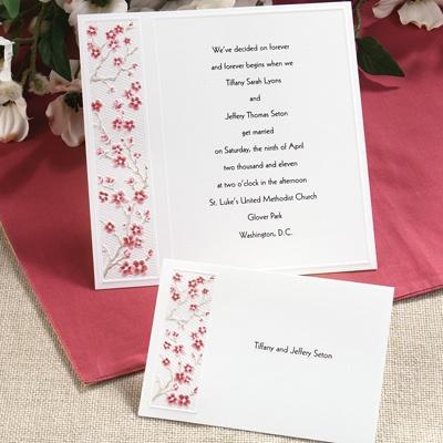 Sample Wedding Reception Invitations on Home    Wedding Invitations    Pink Wedding Invitations    Love S