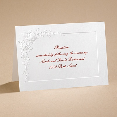 Dozen Roses - Reception Card
