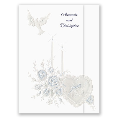 Dearly Beloved - Navy - Invitation