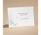 Dearly Beloved - Purple - Response Card With Envelope