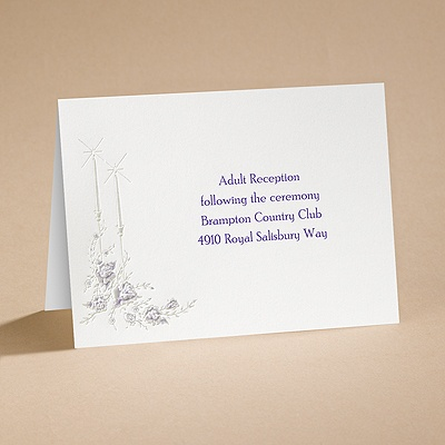 Dearly Beloved - Purple - Reception Card