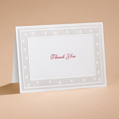 Sweet Hearts - Thank You Card with Verse and Envelope