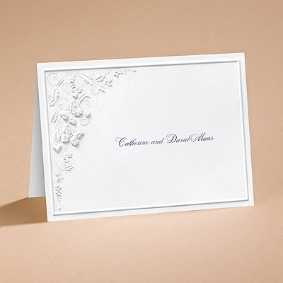 Romantic Butterflies - Note Card and Envelope