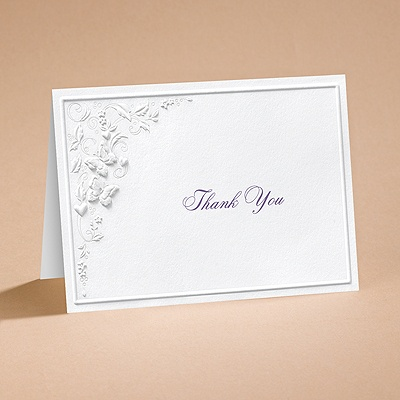 Romantic Butterflies - Thank You Card and Envelope