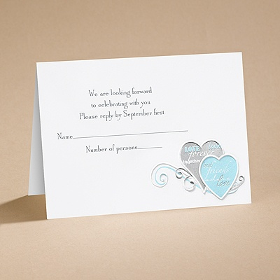 Romantic Messages - Respond Card and Envelope
