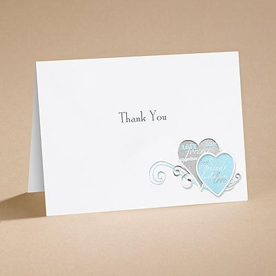 Romantic Messages - Thank You Card with Verse and Envelope