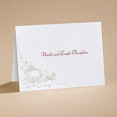 Your Carriage Awaits - Notecard and Envelope