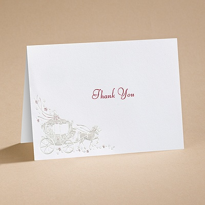 Your Carriage Awaits - Thank You Card and Envelope