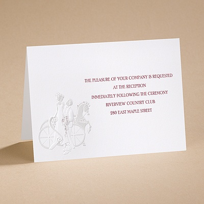 An Enchanted Ride - Reception Card